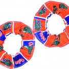 Florida Gators Fabric Mini Hair Scrunchies by Sherry Scrunchie NCAA Set of 2