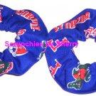 Florida Gators Blue Fabric Mini Hair Scrunchies by Sherry Scrunchie NCAA Set of 2