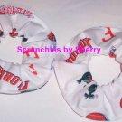 Florida Gators White Fabric Mini Hair Scrunchies by Sherry Scrunchie NCAA Set of 2