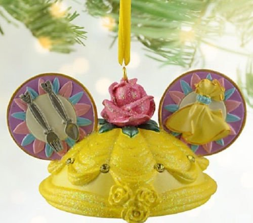 Disney Belle Ear Hat Christmas Ornament Theme Parks