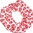 I Love Lucy Hearts on White Fabric Hair Scrunchie Scrunchies by Sherry