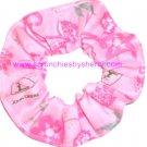 John Deere Pink Floral Fabric Hair Scrunchie Scrunchies by Sherry