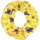 John Deere Yellow  Bandana Fabric Hair Scrunchie Scrunchies by Sherry
