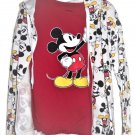 Disney Mickey Mouse Tee and Hoodie T-shirt Jacket Juniors M 7/9