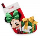 Disney Store Minnie  Mouse Plush Christmas Stocking 2017