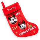 Disney Store Minnie Mickey Mouse My First Stocking Plush Christmas 2017 New