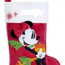 Disney Store Minnie Mouse Christmas Stocking Red 2015 New