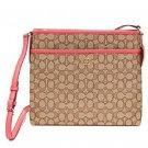 Coach File Bag Handbag Purse Khaki Strawberry F58285