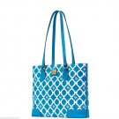 Dooney & Bourke Richmond Sanibel Shopper Tote Handbag Purse Bag Turquoise
