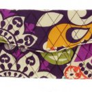 Vera Bradley Strap Wallet Plum Crazy Crossbody New