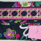 Vera Bradley Euro Wallet Ribbons Printed Interior