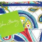 Vera Bradley Euro Wallet Marina Paisley Solid Interior