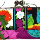 Vera Bradley Small Kisslock Wallet Va Va Bloom