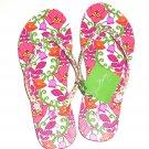 Vera Bradley Flip Flops LIlli Bell Pink Size 5/6