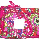 Vera Bradley Little Hipster Handbag Crossbody Purse Cotton Fabric Pink Swirls