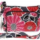 Vera Bradley Little Hipster Handbag Crossbody Purse Cotton Fabric Cheery Blossoms