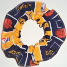 Indiana Pacers Basketball Fabric Hair Scrunchie Scrunchies NBA
