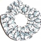 Elvis Gray Faces Rock & Rock Fabric Hair Scrunchie Scrunchies by Sherry