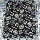 Los Angeles  Raiders Baby Blanket Toss Pewter Black Fleece Pet Dog Lap NFL Football