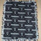 Los Angeles Raiders Black Fleece Baby Pet Dog Lap Blanket