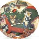 Cat Kitty Collector Plate Happy Tails Litter Racals Yarn Jurgen Scholz Bradford