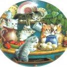 Cat Kitty Collector Plate Kitchen Capers Litter Racals Jurgen Scholz Bradford