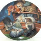 Cat Kitty Collector Plate Pussyfooting Around  Litter Racals Scholz Bradford