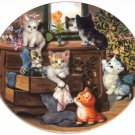 Cat Kitty Collector Plate Sweet Whiskers Litter Racals Jurgen Scholz Bradford