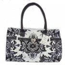 Chadwicks Handbag Purse Tote Black White Pocketbook Bag New