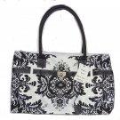Chadwicks Handbag Purse Tote Black White Pocketbook Bag Great Gift NWTS