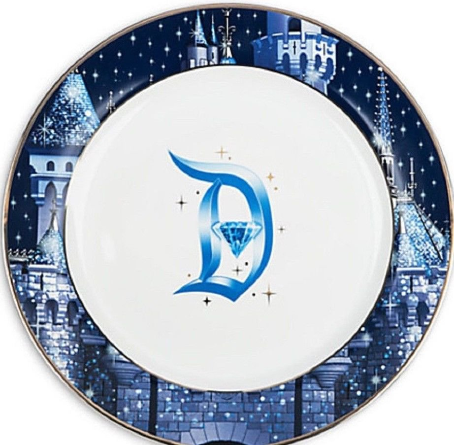Disneyland Diamond Celebration Dinner Plate 60th Sleeping Beauty Castle 2016