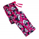 Disney Store Minnie Mouse Pink Floral Ladies Lounge Pants Sleepwear Size XS
