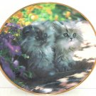 Persian Cat Collector Plate Sitting Pretty Franklin Mint Retired Nancy Matthews