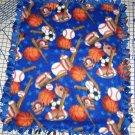 Sports Blanket Football Baseball Basketball Fleece Hand Tied Baby Pet Lap Gift