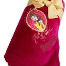 Disney Store Belle Burgundy Fleece Throw Blanket  2016