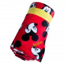 Disney Store Mickry Mouse Red Fleece Throw Blanket 2017