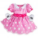 Disney Store Minnie Mouse Baby Costume Dress with Gloves 12-18 Months