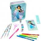 Disney Store Jasmine Zip Up Art Case Stationary Kit School Supplies Pencils Markers