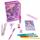Disney Store Sofia the First Zip Up Art Case Stationary Kit School Supplies Pencils Markers 2015
