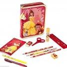 Disney Store Belle Zip Up Art Case Stationary Kit School Supplies Pencils Markers 2016