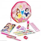 Disney Store Princess Clam Shell Zip Up Art Case Stationary School Supplies Pencils Markers 2016