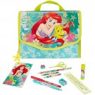 Disney Store Ariel Mermaid Zip Up Art Case Stationary Kit School Supplies Pencils Markers 2017