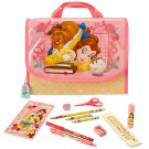 Disney Store Beauty and the Beast Zip Up Art Case Stationary School Supplies Pencils  2017