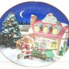 Cherished Teddies Collectors Plate You're Top List Christmas Santa Teddy Bear