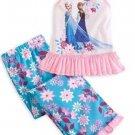 Disney Store Frozen Anna Elsa PJ's Princess Snow Queen 2 Piece Pajamas 4T