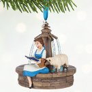 Disney Store Belle Singing Sketchbook Christmas Ornament 2016