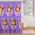 Disney Sofia the First Princess Fabric Shower Curtain Purple