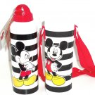 Disney Store Mickey Mouse White Aluminum Water Bottle with Cover