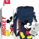 Disney Store Mickey Mouse Blue White Aluminum Water Bottle with Cover