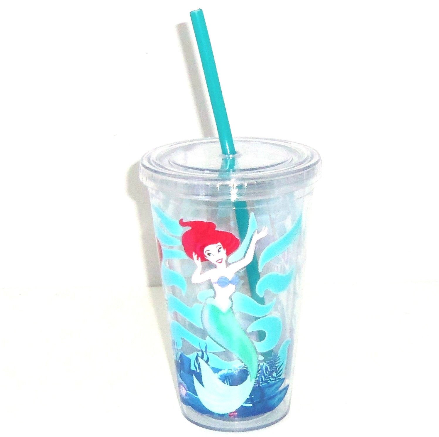 Disney Ariel Under the Sea Tumbler with Straw Theme Parks
